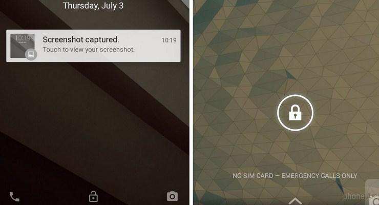 Sistem Lock Screen pada Android L